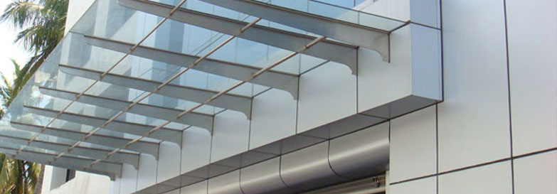 SS CANOPY & Stainless Steel Railing Column Cladding Modular and Digital ...